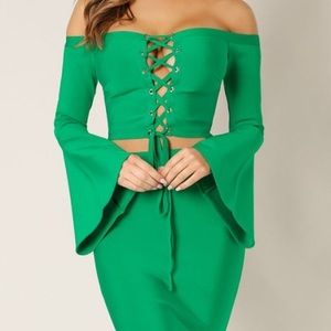 Key Green Bandage Couture 2 piece